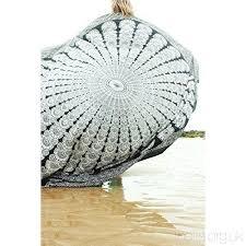 rawyal indian mandala round roun beach throw tapestry hippy boho gypsy cotton tablecloth beach towel round yoga mat by bhagyodayfashions hd9p2udon