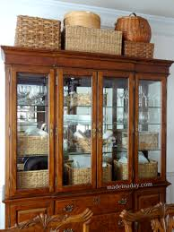 china cabinet hutch. Baskets On Top Of Hutch China Cabinet A
