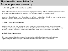 Account Planner Resumes Account Planner Cover Letter