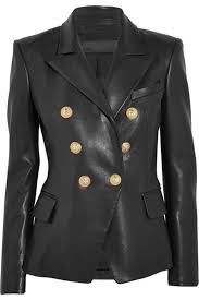 leather hubb women s black kim kardashian leather blazer coat jacket for las at women s coats