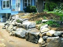 boulder retaining wall cost of large brisbane rock retaining wall boulder cost