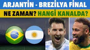 Brezilya - Arjantin Copa America final maçı ne zaman, saat kaçta, hangi  kanalda? - YouTube