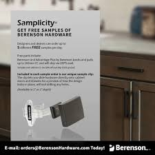 Berenson Corp Our Samplicity Program Makes Picking The Perfect
