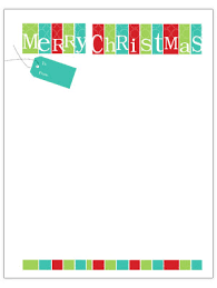 Christmas Note Template Christmas Letter Template Mobawallpaper