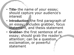 essay writing terms title the of your essay should capture  2 title