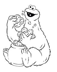 Cookie Monster Coloring Sheets To Print Enjoy Coloring Animation