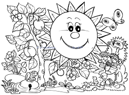 Free Spring Coloring Pages For Preschoolers With Drive Fre
