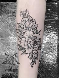роза тату на руке фото