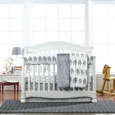 elephant baby bedding set gray elephant 4 piece crib bedding set