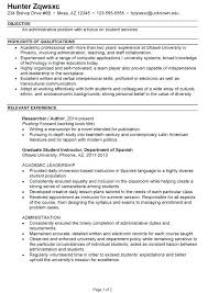Business Administration Resume Business Administration Resume New
