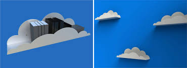 the cutest cloud shaped shelves designed by caral hagerling work especially good on a blue painted walls