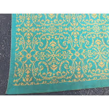 turquoise and yellow rug fresh yellow turquoise french rug 5 7