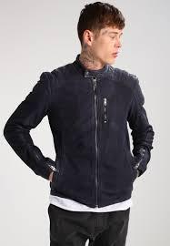 tigha murray leather jacket midnight blue men clothing jackets