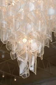 mid century modern monumental pair of italian modern glass chandeliers mazzega for