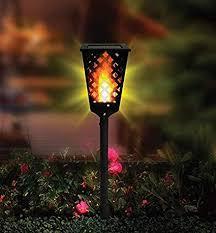 5 out of 5 stars. Solar Garden Tiki Light Outdoor Light Outdoor Garden Light Solar Light Fancy Light Flame Effect Light Flame Flickering Solar Light Garden Decor Light Water Proof Solar Light Flickering Light Flame Light Solar