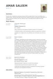 Computer Technician Resume Samples Visualcv Resume Computer Literate Resume  Examples