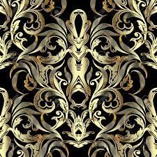 Ornate Gold 3d Baroque Seamless Pattern ...