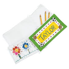 Decorate Pencil Case Buy Decorate Your Own Pencil Case 12pk Tts
