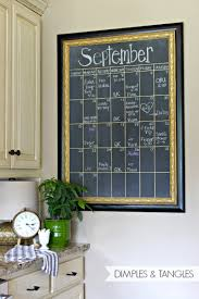 Chalkboard In Kitchen Dimples And Tangles Diy Oversized Chalkboard Calendar