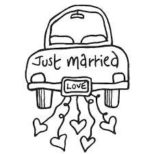 Strikingly Design Ideas Just Married Coloring Page Just Married ...