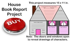 House Book Report Projects  templates  worksheets  grading rubric     Unique Teaching Resources Fun Book Report Project Ideas   House Templates