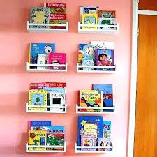 wall bookshelf kid cabinet shelving awesome kids book shelves with pink walls bookshelves childrens ikea