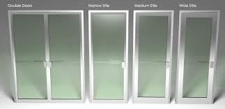Popular Business Glass Front Door With Doors