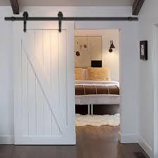 new 6 ft black modern antique style sliding barn wood door hardware closet set