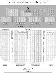 Seating Chart Balcony Lobby Stage Secrest Auditorium