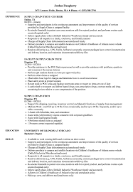 Resume Samples For Supply Chain Management Supply Chain Tech Resume Samples Velvet Jobs 12