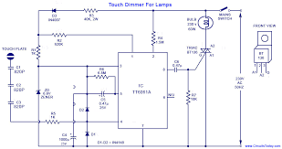 touch dimmer circuit for lamps using tt6061 ic touch dimmer circuit diagram