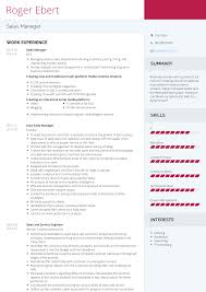 Sales Manager Cv Template Sales Manager Resume Samples And Templates Visualcv
