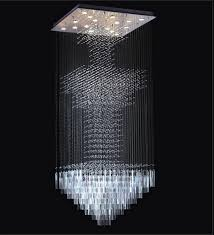 modern floating crystal chandelier