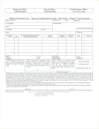 Bill Of Lading Free Form Printable Sample Bill Of Lading Template Form Blank Free