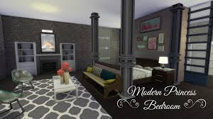 Build A Princess Bed Sims 4 Room Build Modern Princess Bedroom Youtube