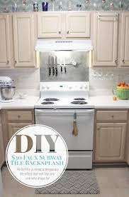 Vertical Tile Backsplash Stunning 48 Faux Subway Tile Painted Backsplash Tutorial