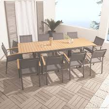 Best Table De Jardin Bois Et Alu Gallery Amazing House Design Table Salon De Jardin Teck