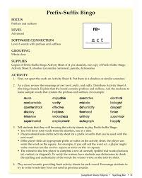 Prefix Suffix Bingo - Free English Worksheet for Kids | Prefixes ...