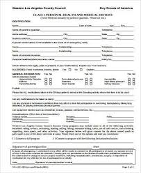 Boy Scout Medical Form Simple Sample Boy Scout Physical Forms 48 Free Documents In Word PDF