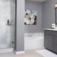 white carrera contemporary french mocha transitional bathroom remodel