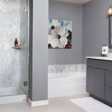 white carrera contemporary french mocha transitional bathroom remodel