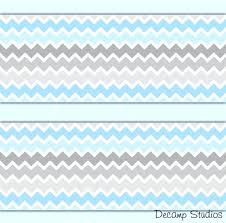 blue chevron wallpaper blue gray chevron wallpaper border wall art decals baby boy nursery decor baby blue chevron wallpaper