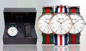 so co new york canvas watch groupon goods men s canvas interchangeable strap watch set so co new york men s canvas interchangeable strap