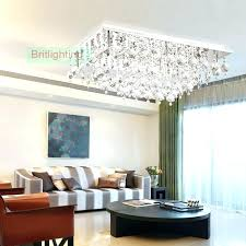 semi flush mount lighting modern crystal ceiling rectangle surface mounted contemporary rectangular chandelier chandelie