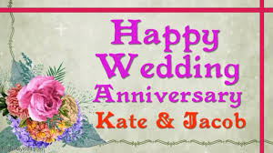 Wedding Anniversary Card Video Wishes Template Postermywall