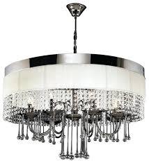 black and chrome chandelier modern black chrome white linen crystal chandelier next amalfi black chrome chandelier