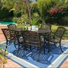 outdoor expandable aluminum dining set with umbrella hole by knight home greenhouse patio furniture austin options