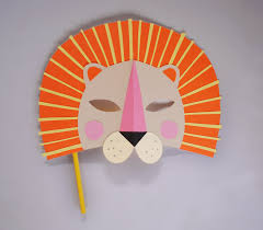 diy paper lion mask for national geo kids