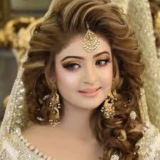 3 kashees beautiful bridal hairstyle makeup beauty parlour