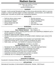 receptionist resume skills receptionist resume skills dental receptionist  resume qualifications